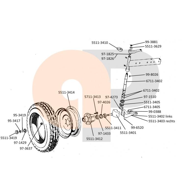 953303 by agrapoint.com Zetor Connector Suspension bolt NEW