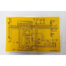 Zetor - Schematic Sticker 4918-5303. Sticker with wiring diagram